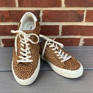 Madewell Sidewalk Spot Dot Calf Hair Sneakers